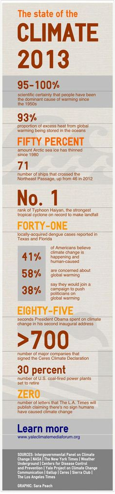 The State of the Climate 2013 #infographic #climateChange #eco
