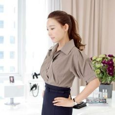 Puff-Sleeve Pleated-Front Blouse from #YesStyle <3 St. Mary YesStyle.com
