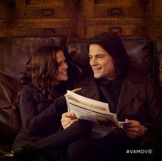 Rose (Zoey Deutch) and Dimitri (Danila Koslovsky) flirt in the Vampire Academy movie