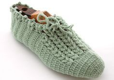Vintage slippers -sapato croche