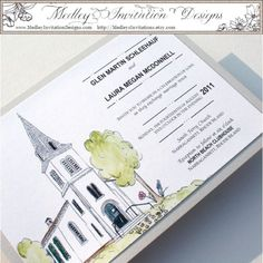 Hand painted wedding invites