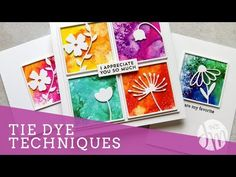 I am fascinated by the many interesting effects you can get by using a water mist bottle and watercolor. No two projects are ever the same and they are QUICK to make! They remind me of tie-dye that I loved as a kid! Card Making Tips, Card Making Tutorials, Card Making Techniques, Watercolor Cards, Simple Watercolor, Liquid Watercolor, Watercolour, Jennifer Mcguire Ink, Tie Dye Techniques