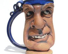 RUSTY one of a kind FACE MUG by Herksworks on Etsy
