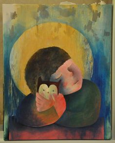 """My owl"" by Ati van Twillert, acryl on canvas"