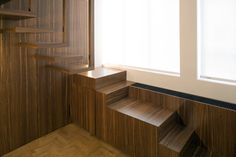 These clean minimal residential interiors by Co.Studio are fantastic. Interior Staircase, Interior Architecture, Interior Design, Stairs Window, Window Wall, Wooden Staircases, Stairways, Stairs To Heaven, Decoration