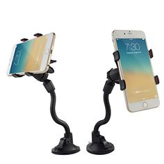Car Holder Suction Mount by Dashboard or Windscreen 360 Degree Swivel Strong Universal Grip Charging Access for Smartphones and Tablets Compatible with Samsung iPhone and More Cell Phones