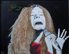 By Ken Zabel - Description: This is my painting of the late, great Janis Joplin.