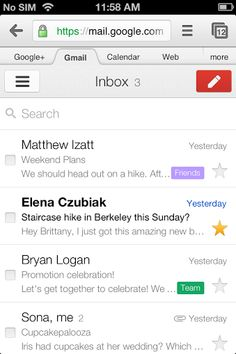Google updates design of Gmail's Web app for Android, BlackBerry, iOS, Kindle Fire, and Offline app for Chrome