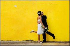 Wedding couple in Santiago, Chile. ©Linn Bergbrant