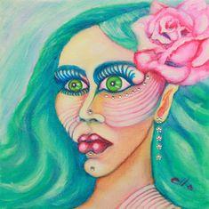 Watercolor Paintings, Original Paintings, Original Art, Abstract Portrait, Abstract Art, Woman Painting, Female Portrait, Artwork Online, Buy Art