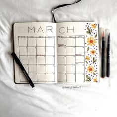 Alana's Black, Watercolor, and Floral Bullet Journal Alana& Bullet Journal March Bullet Journal, Bullet Journal Monthly Spread, Bullet Journal Writing, Bullet Journal Aesthetic, Bullet Journal School, Bullet Journal Ideas Pages, Bullet Journal Inspiration, Bullet Journals, Bullet Journal Decoration