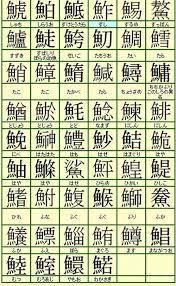 難しい 魚の 漢字