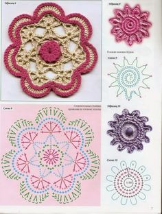 Watch The Video Splendid Crochet a Puff Flower Ideas. Phenomenal Crochet a Puff Flower Ideas. Crochet Circles, Crochet Motifs, Crochet Flower Patterns, Crochet Diagram, Freeform Crochet, Crochet Chart, Crochet Squares, Crochet Doilies, Crochet Flowers