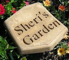 Engraved Sheri's Garden Stepping Stone