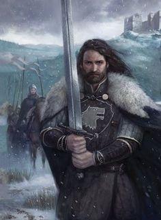Eddard Stark, Lord of Winterfell. Eddard Stark, Ned Stark, Got Characters, Fantasy Characters, Fantasy Character Design, Character Art, Character Ideas, Fantasy Inspiration, Character Inspiration