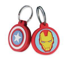 Marvel Schlüsselaufsätze Iron Man & Captain America. Hier bei www.closeup.de