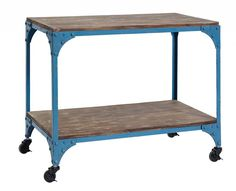 Nordal Bijzettafel Warehouse industrieel, blauw, leuk als koffiebar