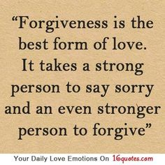 strength and forgiveness