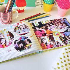 Un año del cole en imágenes. Creá tus propios anuarios escolares con las fotos de tus chicos durante todo el año escolar. Descarga gratis! Foto Album, Photo Books, Project Life, Minecraft, Editorial, Collage, Layout, Diy Crafts, Scrapbook