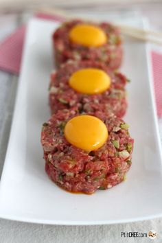 #ptitchef #recette #cuisine #steak #tartare #viande #sanscuisson #faitmaison #recipe #cooking #food #homemade #diy #imadeit
