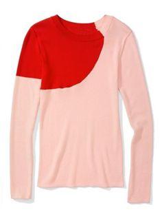 Color-blocked sweater. Sonia by Sonia Rykiel.