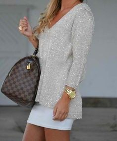 Shimmer sweaters.