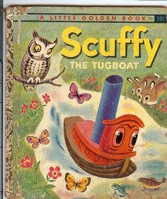 Vintage 1955 Scuffy The Tugboat A Little Golden by TheIDconnection, $10.00