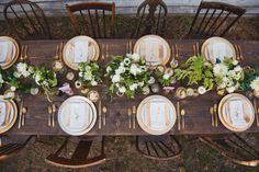 farm table mismatched chairs (not sure if I like the chairs)