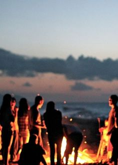 Bonfire parties on the beach are common in   Captive's Sound, at least when the world isn't ending.