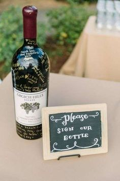 Home Decor For Small Spaces Trendy wedding guest book wine bridal shower Ideas.Home Decor For Small Spaces Trendy wedding guest book wine bridal shower Ideas Wedding Guest Book, Diy Wedding, Wedding Ideas, Trendy Wedding, Wedding Inspiration, Wedding Arbors, Wedding Wine Theme, Wine Bottle Wedding, Wedding Card