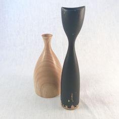Danish Black Wood Candlestick