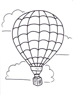 Related Hot Air Balloon Coloring Pages item-11522, Hot Air Balloon Coloring…