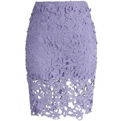 Chicwish Charme Crochet Lace Pencil Skirt in Purple ($38) ❤ liked on Polyvore featuring skirts, bottoms, faldas, gonne, purple, purple skirt, wet look skirt, stretch skirt, pastel skirt and stretchy skirt