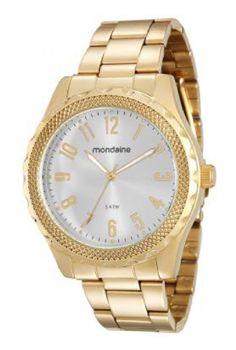 76569LPMVDE1 Relógio Feminino Mondaine Analógico Dourado | Guest Club