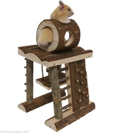 Hamster Gerbil Or Mouse Activity Climbing Tower Adventure Playground Wooden Toy