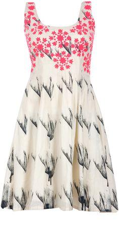 Tulip printed short dress by MASABA. Shop at http://www.perniaspopupshop.com/whats-new/masaba-70