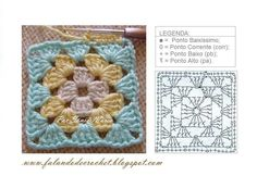 crochet paso a paso cuadrados - Saferbrowser Yahoo Image Search Results Crochet Squares, Granny Square Crochet Pattern, Crochet Motifs, Easy Crochet Patterns, Crochet Granny, Crochet Stitches, Free Crochet, Granny Square Häkelanleitung, Granny Squares
