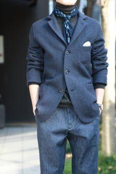 Blue outfit / indigo / denim