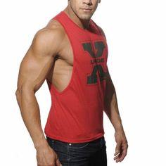 New Muscle Men's Vivid TankLow Cut Armholes https://www.bodybuildingtanks.com