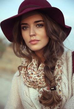 Perfect for Fall,  Loose Braid with Hat