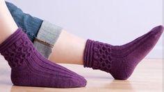 "Plus 2 more patterns: ""faux"" isle hat & mittens > magic loop knitting honeycomb socks"