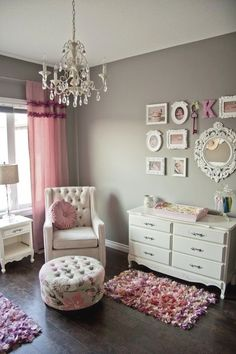 We love this glamorous nursery!