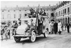 Italian partisans on a truck.