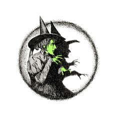 Scary Halloween, Halloween Makeup, Crystal Ball Tattoo, Wizard Of Oz Tattoos, Wizard Of Oz Quotes, Witch Drawing, Witch Tattoo, Wicked Witch, Witchcraft
