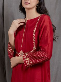 Work Clothes Convey Professionalism and Offer Durability Silk Kurti Designs, Kurti Designs Party Wear, Blouse Designs, Sleeve Designs, Embroidery Suits Punjabi, Embroidery Suits Design, Zardozi Embroidery, Embroidery Dress, Pakistani Fashion Party Wear
