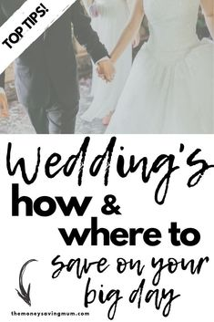 Having a wedding on a budget or are you very close to your limit? Check out these top 5 tips on ways to save on your wedding day!