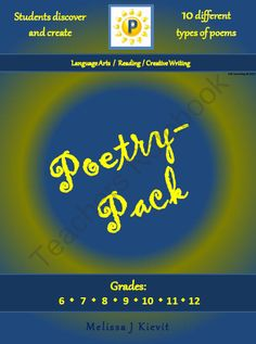 """Poetry-Pack: 10 Poems for Students to Discover & Create! from All For Wisdom - Wisdom For All on TeachersNotebook.com -  (14 pages)  - Poetry-Pack: 10 Poems for Students to Discover & Create! Includes: Sentence Portrait; Bio-Poem;  Acrostic Poem; I Am Poem; """"If I were in charge of the world ..."""" Poem; Shape Poem; Haiku Poems;  Twaiku Poems; Poetweets; Wordles"""