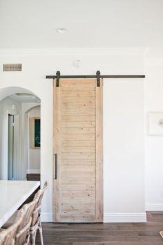 55 Incredible Barn Door Ideas: NOT Just For Farmhouse Style - For the Home , Making Barn Doors, Diy Barn Door, Barn Door Hardware, Barn Door Pantry, Door Latches, Bathroom Barn Door, Diy Door, Master Bathroom, Modern Farmhouse Style