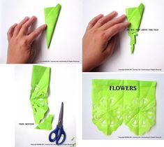 DIY papel picado (Mexican paper banner)