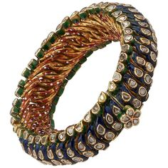 Shop diamond and gold cuff bracelets and other vintage and antique bracelets from the world's best jewelry dealers. Antique Bracelets, Diamond Bracelets, Bangle Bracelets, Rajputi Jewellery, Silver Diamonds, Indian Jewelry, Bridal Jewelry, Jewelry Collection, Fine Jewelry